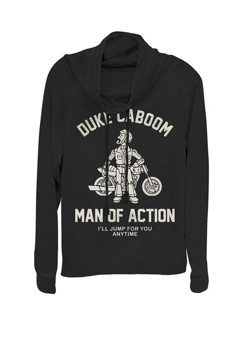Toy Story 4 Duke Caboom Man Of Action Cowl Neck Pullover