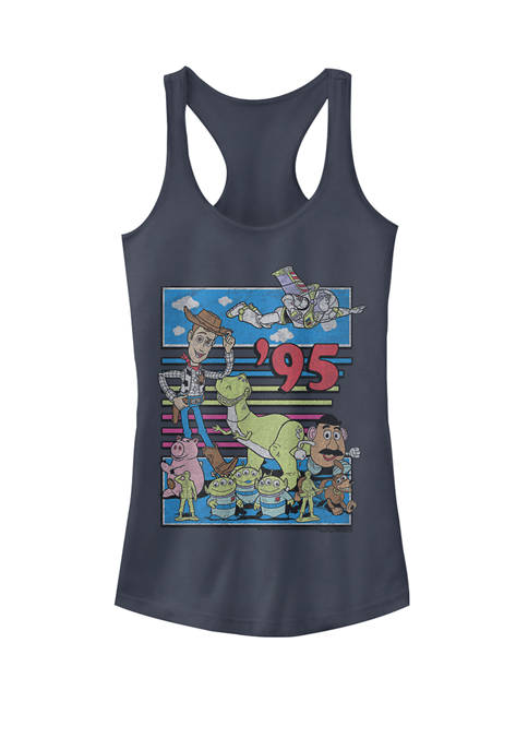 Toy Story 95 Retro Distressed Colorful Graphic Racerback Tank