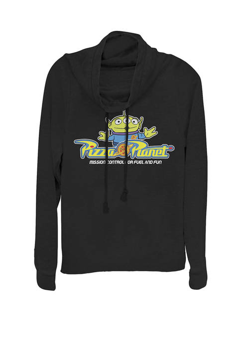 Toy Story Pizza Planet Alien Cowl Neck Graphic Pullover
