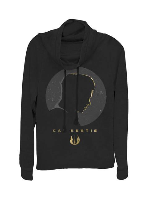 Jedi Fallen Order Cal Kestis Gold Silhouette Cowl Neck Pullover