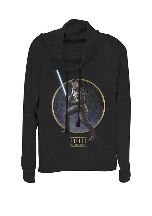 Jedi Fallen Order Cal Kestis Lightsaber Pose Cowl Neck Graphic Pullover