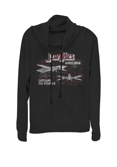 The Mandalorian Outland Tie Fighter Cowl Neck Graphic Pullover