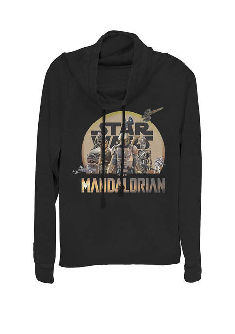 The Mandalorian Boba Fett Character Group Cowl Neck Graphic Pullover