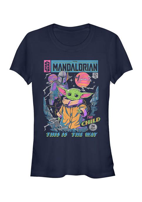 Juniors  Neon Poster Graphic T-Shirt