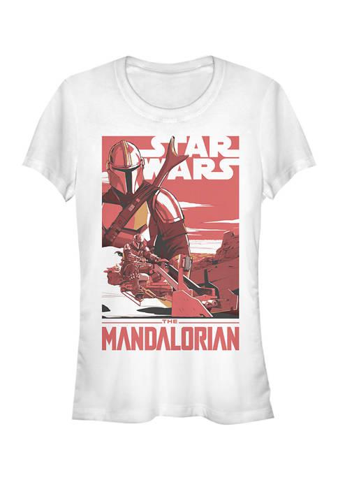 Juniors  Mad Mando Poster Graphic T-Shirt