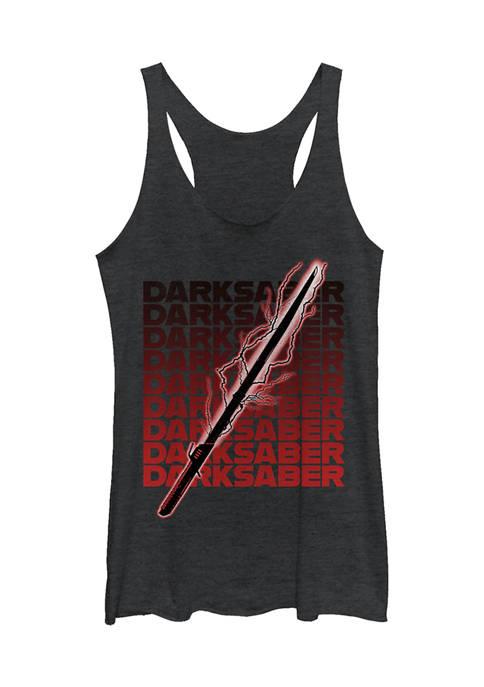 Juniors Darksaber Text Graphic Tank