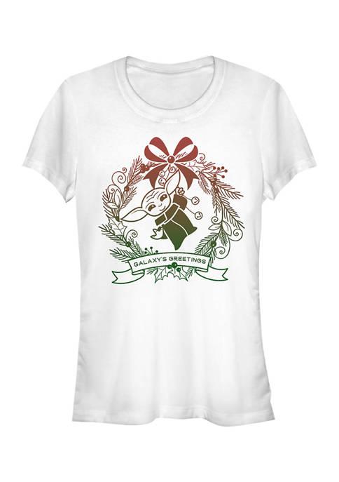 Juniors Galaxys Greetings T-Shirt