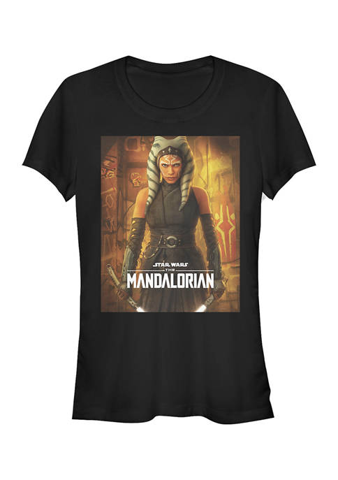 Juniors Ahsoka Poster Graphic T-Shirt