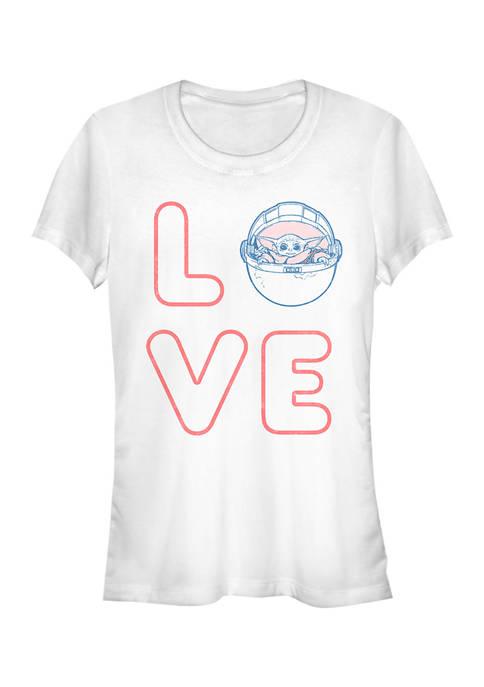 Star Wars The Mandalorian Juniors LOVE STACKED T-Shirt