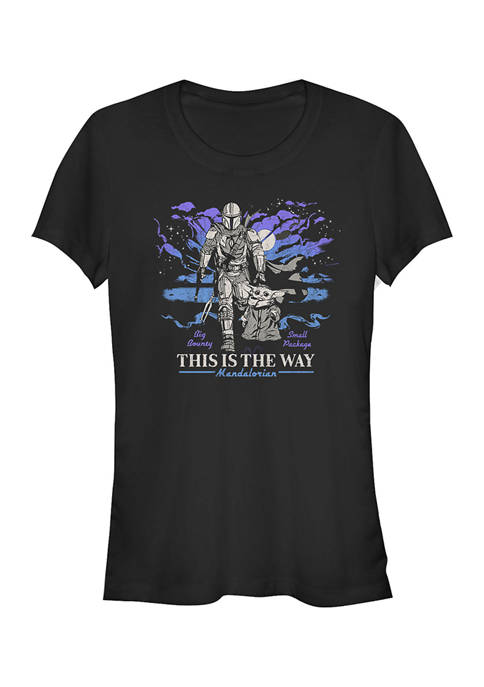 Star Wars The Mandalorian Juniors Galaxy Graphic T-Shirt