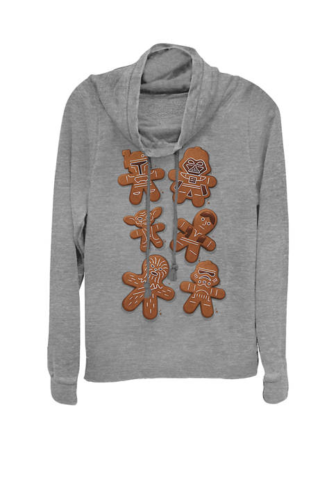 Star Wars® Christmas Gingerbread Cookie Characters Cowl Neck