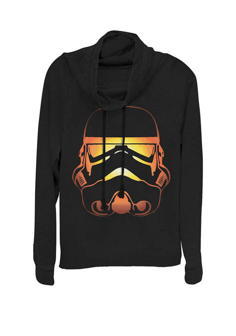 Star Wars® Stormtrooper Pumpkin Glow Cowl Neck Pullover