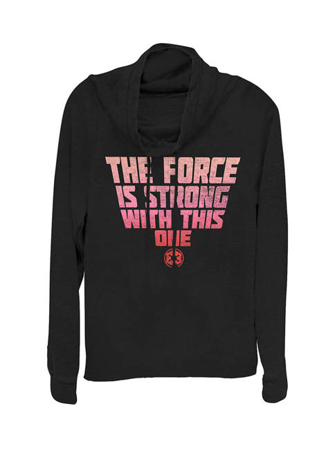 Deep Red Force Is Strong Cowl Neck Pullover
