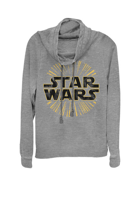 Star Wars® Light Burst Logo Cowl Neck Graphic