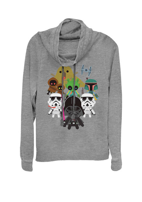 Star Wars® Kawaii Villains Cowl Neck Graphic Pullover