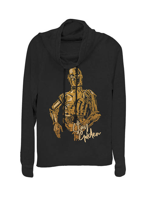 Star Wars® C-3PO Stay Golden Portrait Cowl Neck