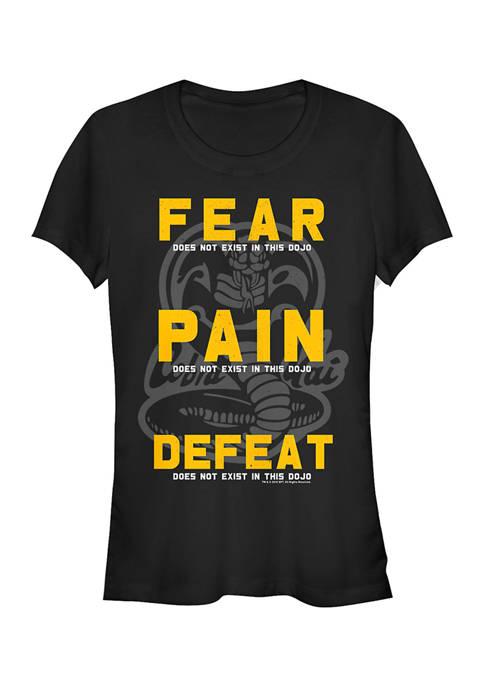 Cobra Kai Juniors Fear Defeat Graphic Top