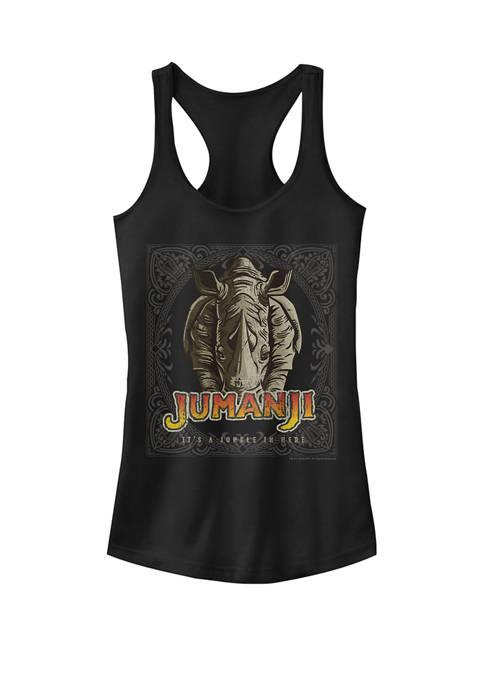 Its A Jungle In Here Rhino Face Jumanji Racerback Tank