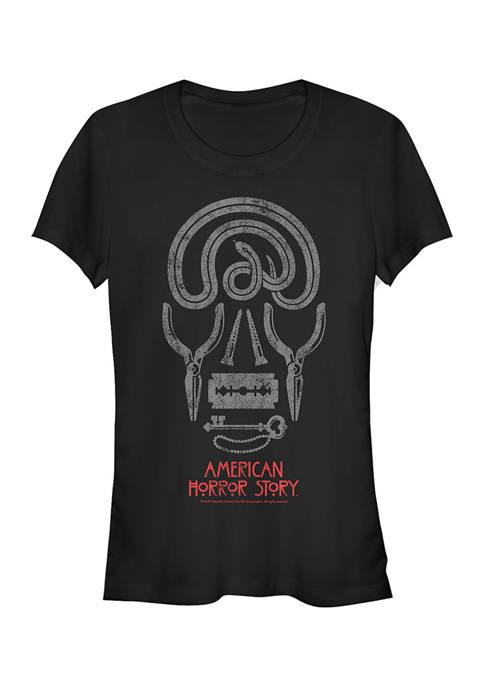 American Horror Story Juniors Skull Icons Graphic T-Shirt