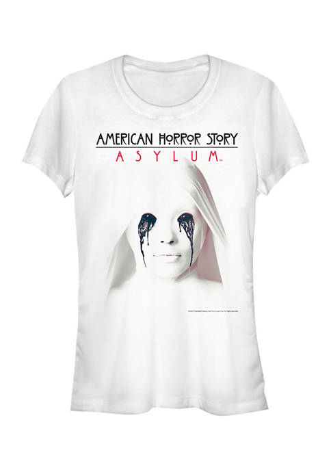 American Horror Story Juniors White Asylum Graphic T-Shirt