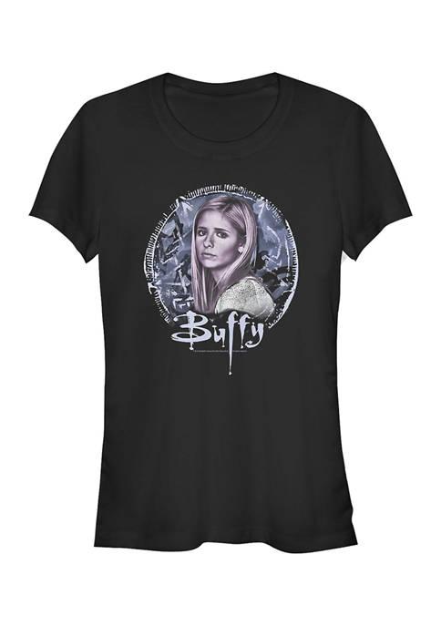 Buffy the Vampire Slayer Juniors Pentagram Graphic T-Shirt