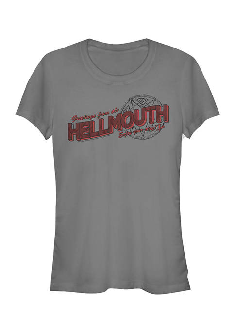 Buffy the Vampire Slayer Juniors Hellmouth Hello T-Shirt