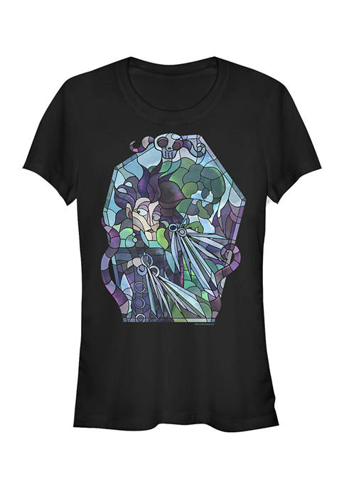 Edward Scissorhands Juniors Edward Stained Glass Graphic T-Shirt