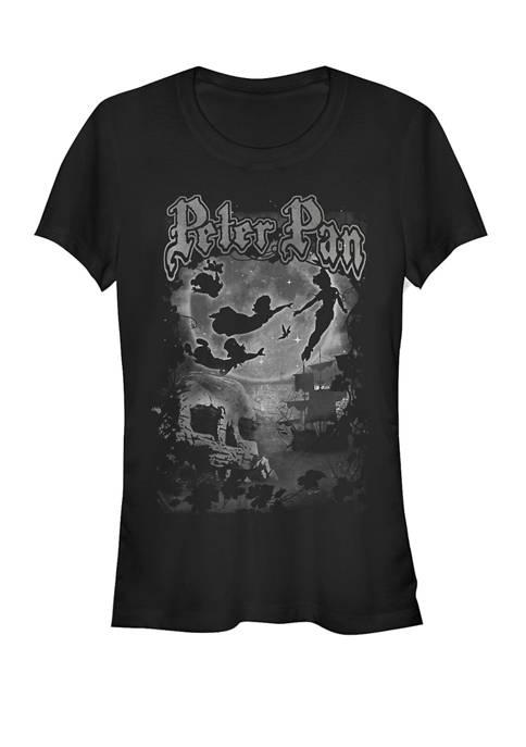 Peter Pan Night Sky Fly Poster Group Shot Short Sleeve T-Shirt