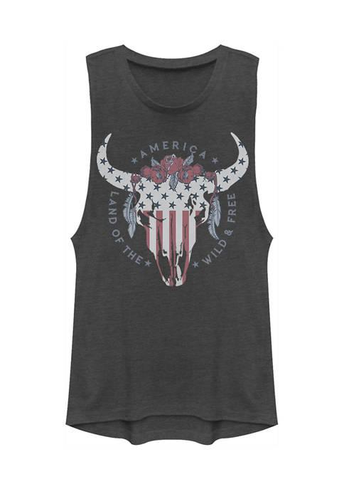 V-Line Juniors American Skull v2 Tank Top
