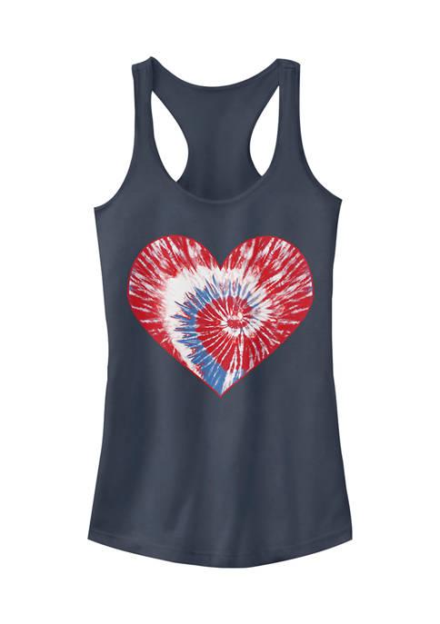 V-Line Juniors Spiral USA Heart Tank Top