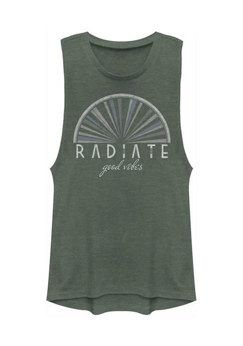 V-Line Juniors Radiate Good Vibes Tank Top