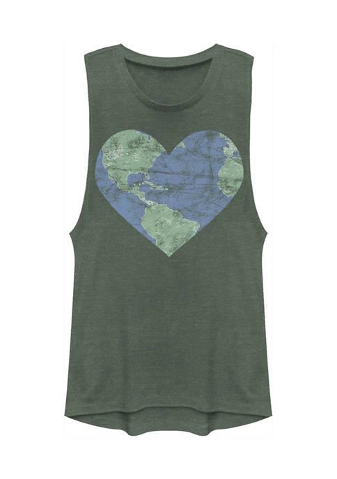 Juniors Heart Earth Tank Top
