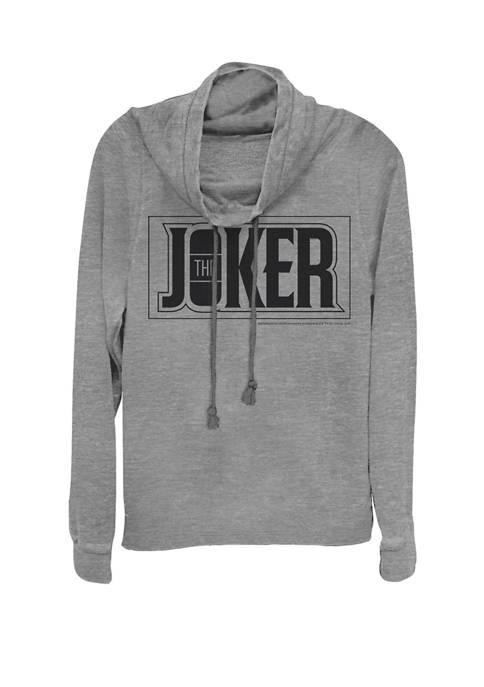 The Joker Urban Text Logo Cowl Neck Pullover