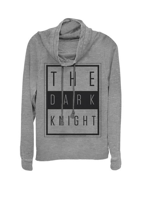 The Dark Night Urban Text Logo Cowl Neck