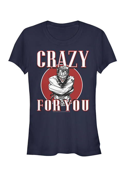 Batman™ Juniors Crazy Joker Love T-Shirt