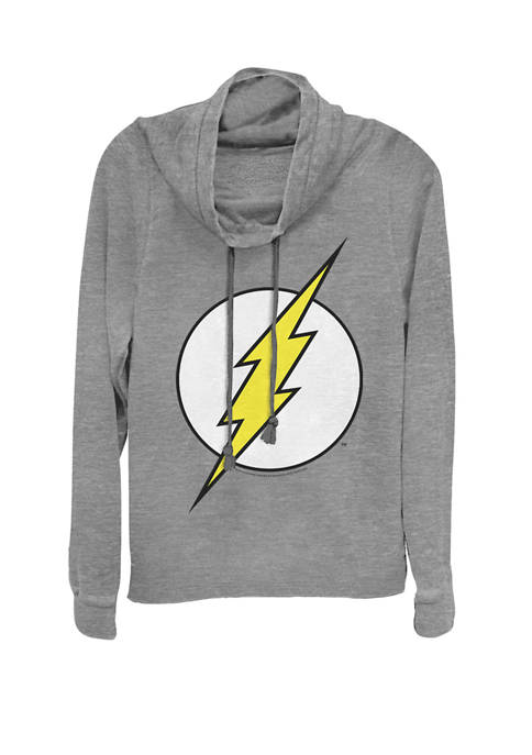 DC COMICS™ The Flash Classic Logo Cowl Neck