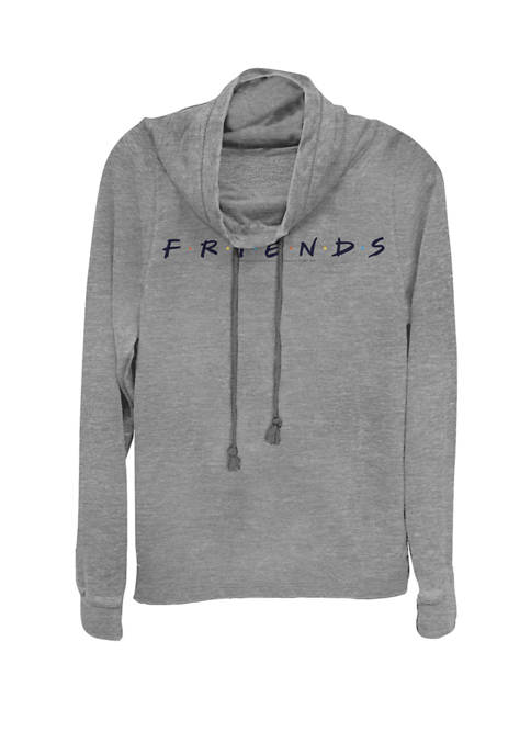 F.R.I.E.N.D.S Classic Title Logo Cowl Neck Pullover Sweater