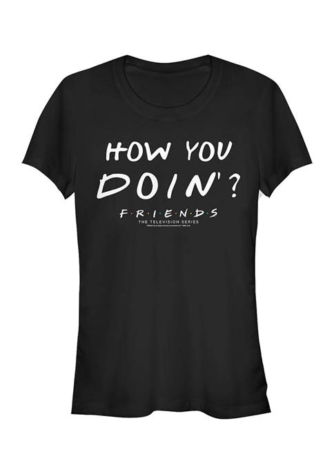 Friends Juniors How You Doin Graphic T-Shirt
