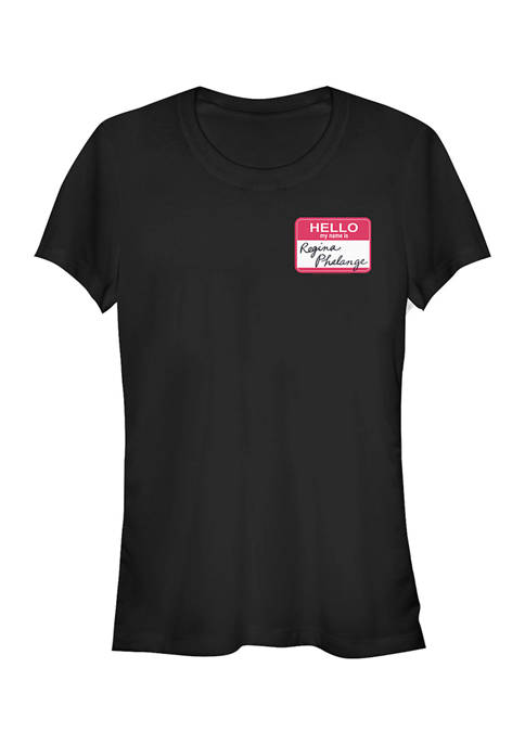 Friends Juniors Regina Phalange Name Tag Graphic T-Shirt