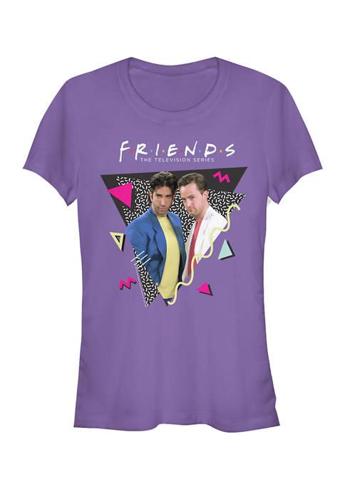 Friends Juniors Retro Chandler and Ross Graphic T-Shirt