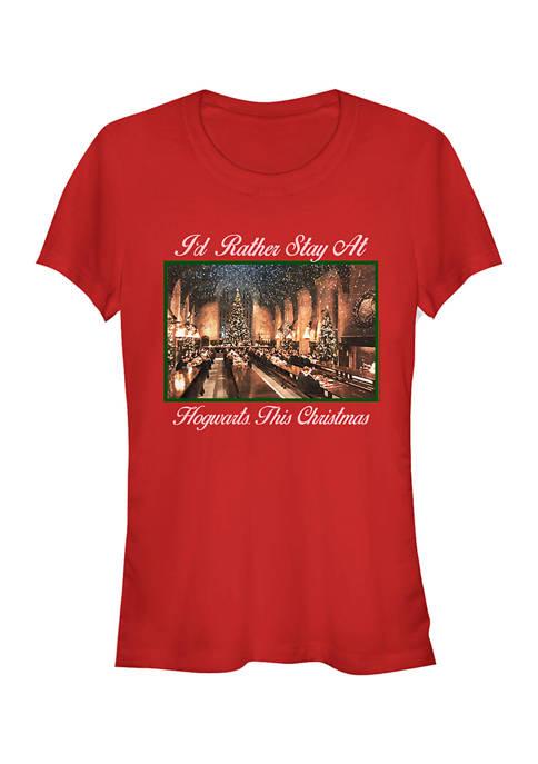 Harry Potter Juniors Holiday Hogwarts Photobox T-Shirt