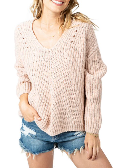 RIP CURL Womens Woven V-Neck Sweater