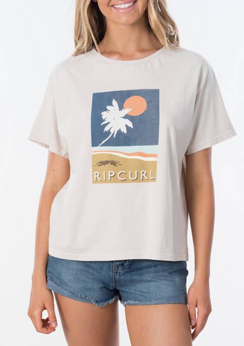 Juniors Palm Graphic T-Shirt