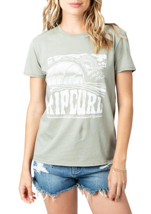 Womens Barreled Boyfriend Graphic T-Shirt