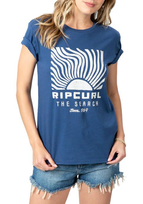 Womens Sun Search Graphic Boy T-Shirt