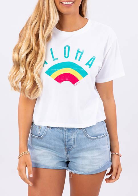 RIP CURL Juniors Aloha Rainbow Graphic T-Shirt