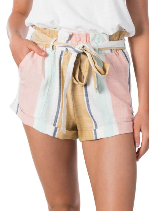 RIP CURL Womens Sunsetters Stripe Shorts