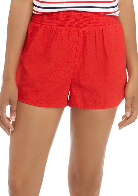 Smock Pull On Swim Cover Up Shorts