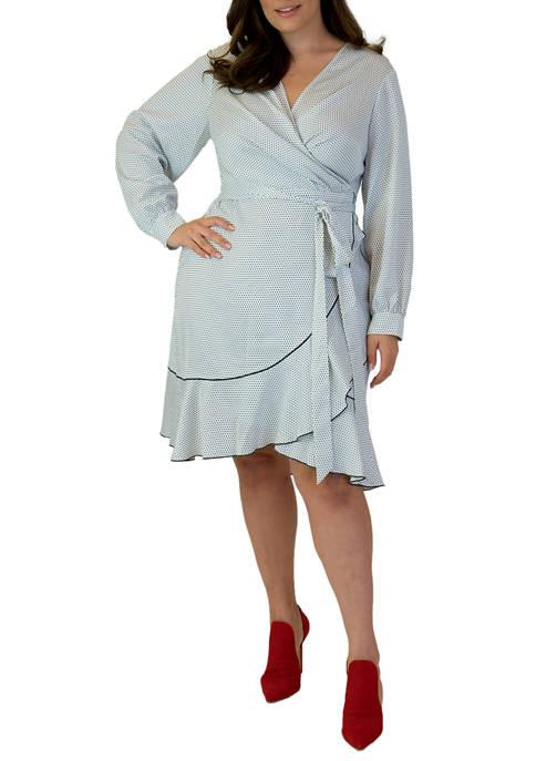 Maree Pour Toi Plus Size Crepe Satin Dress