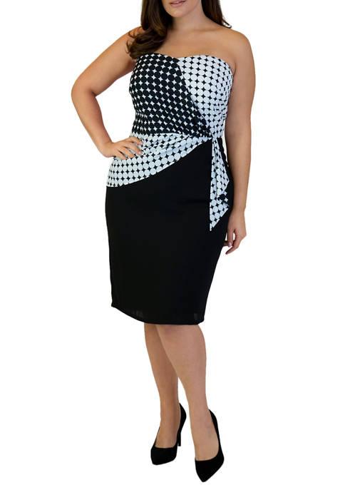 Maree Pour Toi Plus Size Geo Bust Dress